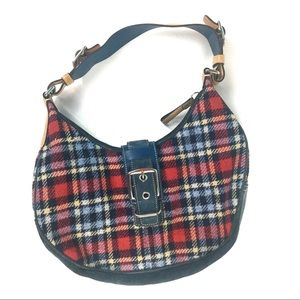 Authentic Coach Plaid Tartan Hobo Shoulder Bag